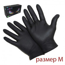 Упаковка перчаток М (чёрные 100 штук)