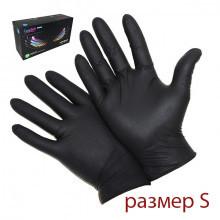 Упаковка перчаток S (черные, 200 шт)