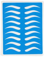 Тренировочный коврик голубой (брови с изломом)
