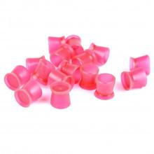 Емкости для пигментов плоские силиконовые розовые